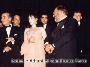Isabelle Adjani et Gianfranco Ferre