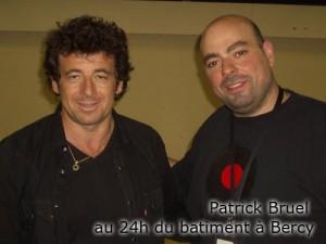 Patrick Bruel au 24h du batiment à Bercy