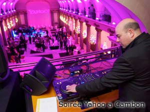 Soirée Yahoo à Cambon