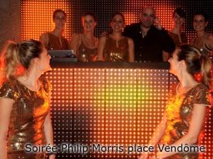 Soirée Philip Morris place Vendôme